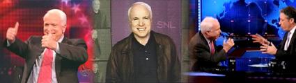 John mcCain, SNL, Daily Show, Jon Stewart