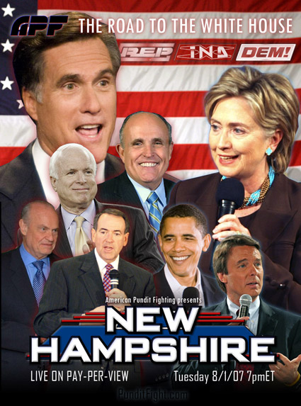 new hampshire clinton obama romney huckabee